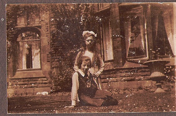 Nora Bradley and friend, 22 Grove Park, Liverpool 1924