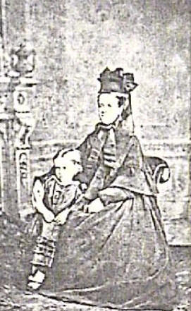 Eliza Fuller (nee Bradley) with daughter Janet about 1875